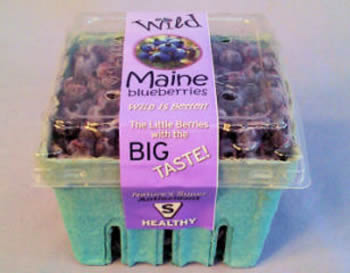 Wild Maine Blueberries, the little berry with big taste, distributed by Blue Sky Produce