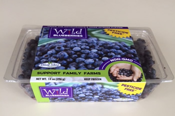 Pesticide free wild blueberries by Blue Sky Produce.
